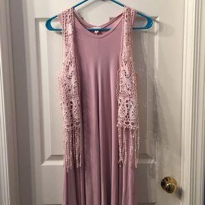 Pink Crochet Vest